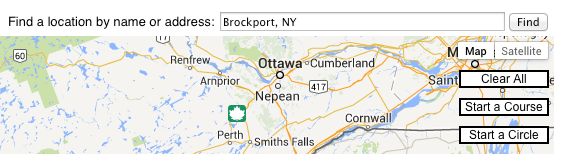 Google Maps Start a Circle menu option