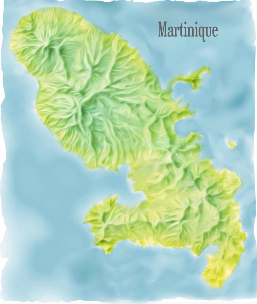Martinique created on an iPad