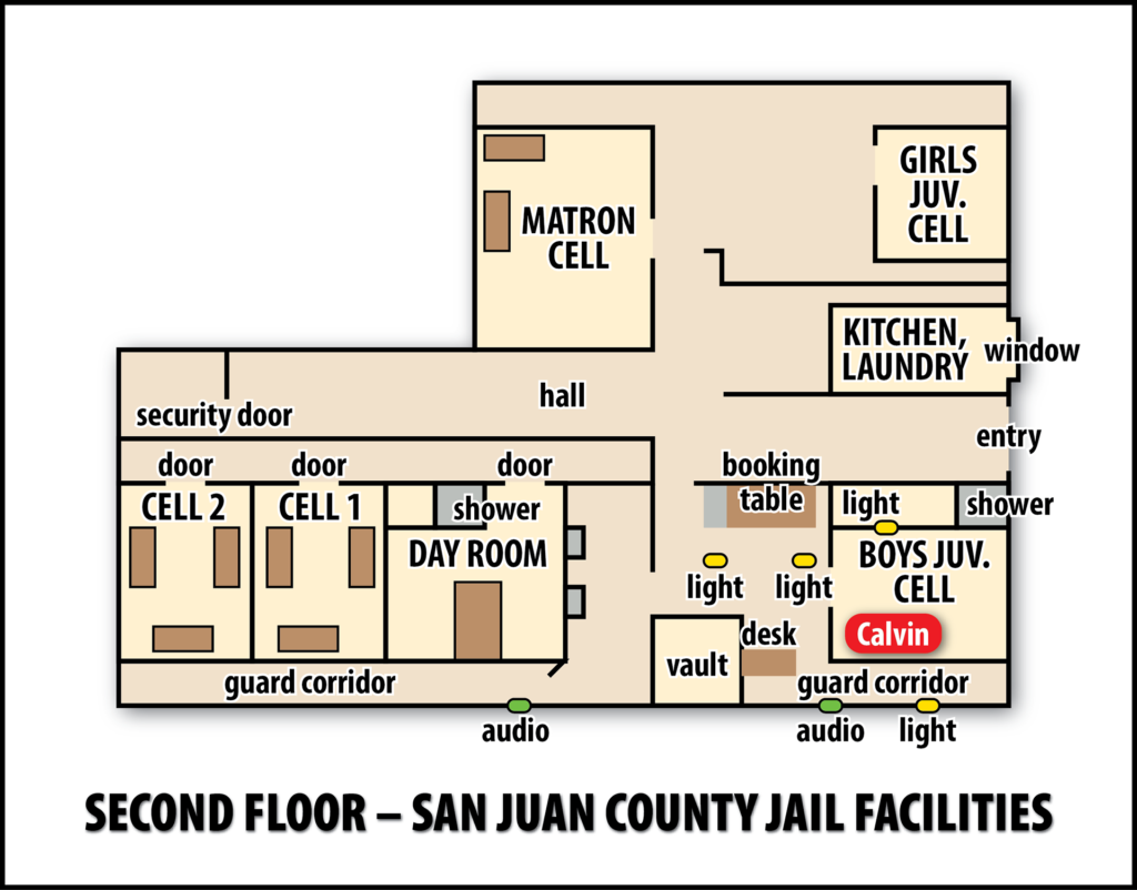Illustration of a jail facility