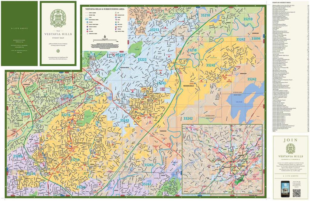 Vestavia Hills map (front side)
