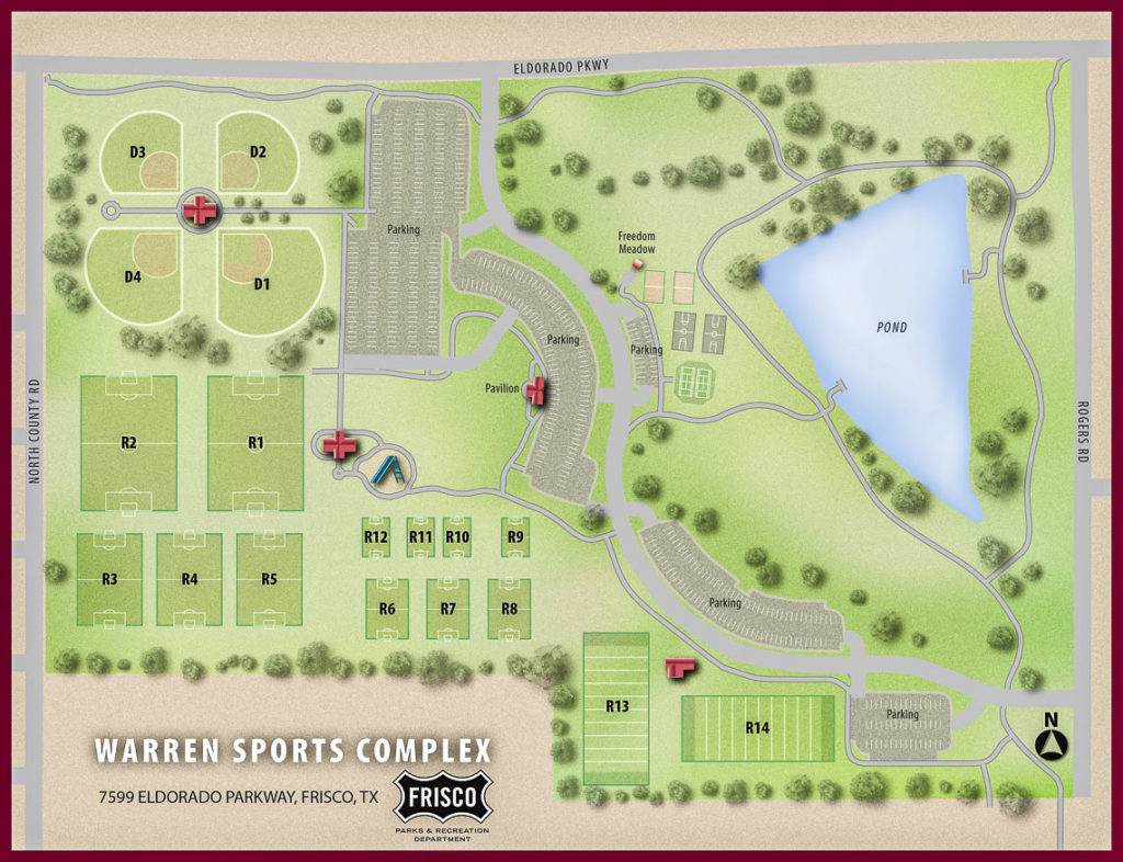 Warren Sports Complex map