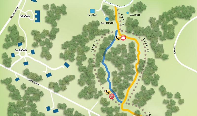 Woodloch Pines trail map