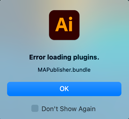 Error Loading Plugins warning