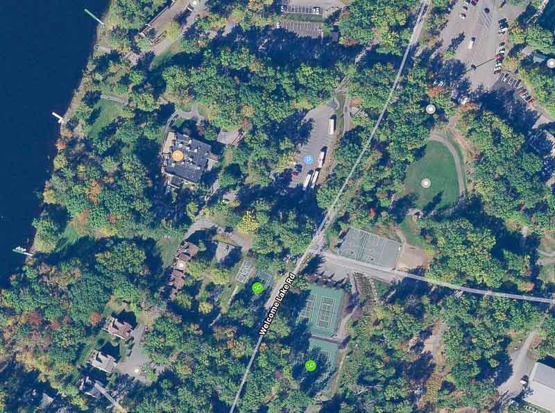 Satellite image of Woodloch Pines area