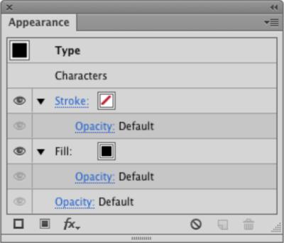 Adobe Illustrator's Appearance dialog box