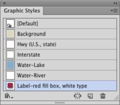 Adobe Illustrator's Graphic Styles dialog box